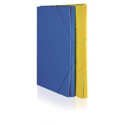 Cartelline con elastico agli angoli colore blu
