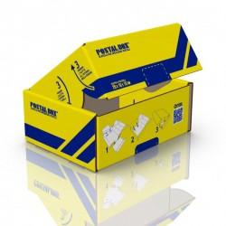 Postalbox - scatola per spedizioni postali,  formato piccolo 26x17x10cm - 1pz colore giallo