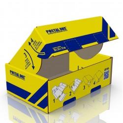 Postalbox - scatola per spedizioni postali,  formato medio 35x20x12cm - 1pz colore giallo