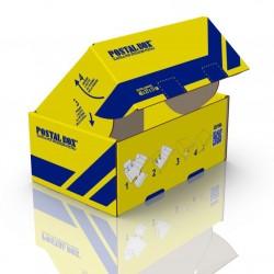 Postalbox - scatola per spedizioni postali,  formato grande 40x27x17cm - 1pz colore giallo
