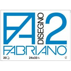 Fabriano f2 - album da disegno liscio squadrato 24x33cm grammatura 220gr