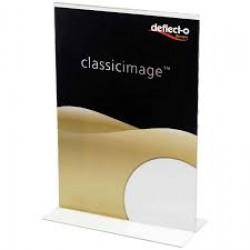 Deflecto portadepliant in acrilico formato a5 colore trasparente
