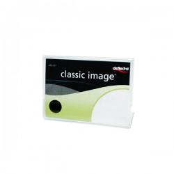 Deflecto portaprezzi in acrilico formato a9 colore trasparente