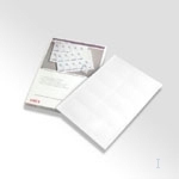 Biglietti da visita prefustellati (50 x 90mm) colore bianco