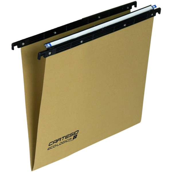 Cartelle sospese cartesio 39cm per cassetto colore avana grammatura 240gr