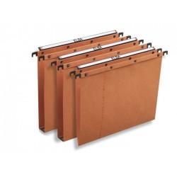Cartelle sospese per armadio in cartoncino colore avana