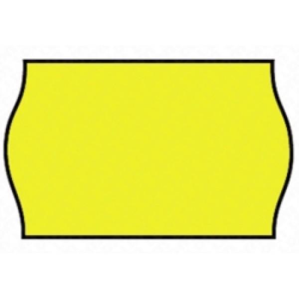 Etichette onda per prezzatrice smart 6  colore giallo
