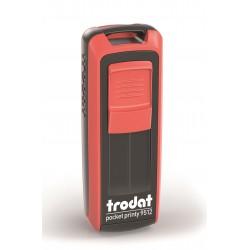 Timbro pocket printy 9512 eco  colore nero, rosso