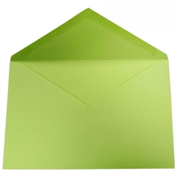 Busta verde formato 12x18 80gr, lembo a punta gommato - prezzo singolo, ord. minimo 500pz  colore verde