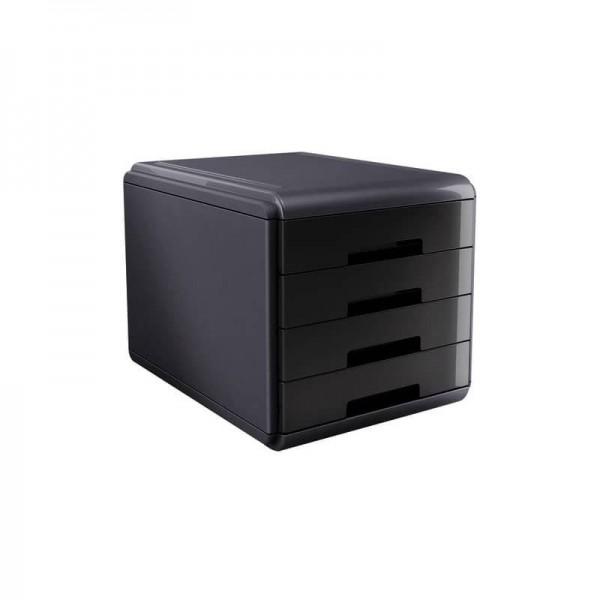 Cassettiera mydesk 4 cassetti colore nero