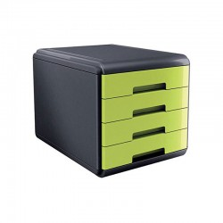 Cassettiera mydesk 4 cassetti colore verde colore nero