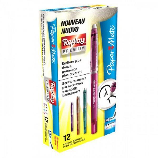 Penna a sfera erasable cancellabile colore assortiti tipo punta conica