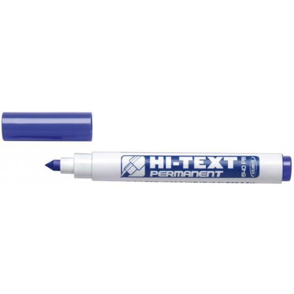 Marcatore hi-text 640 colore blu tipo punta conica