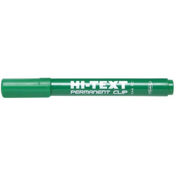 Marcatore hi-text 641 colore verde tipo punta conica
