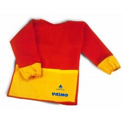 Primo - grembiule in tessuto con maniche in plastica colore rosso