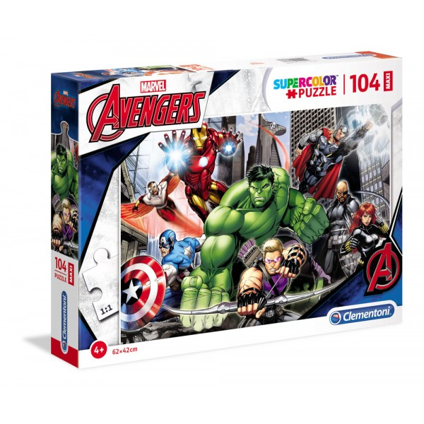 Avengers ready to fight - puzzle 104pz maxi