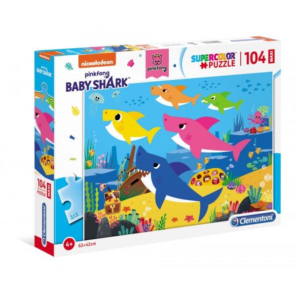 Baby shark - puzzle 104pz maxi