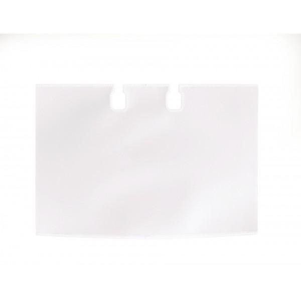 Set di estensione per schedario rotativo rotary 40 buste trasparenti doppio lato formato 104x72mm colore trasparente