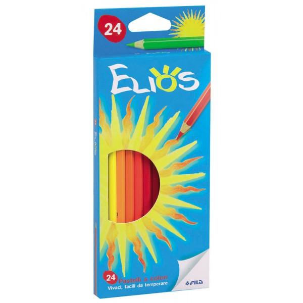 Astuccio elios 24 pastelli esagonali colore assortiti colore assortiti