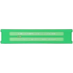 Normografo uni 2.5mm colore verde