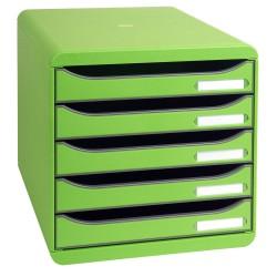 Cassettiera big box 5 cassetti verde mela colore verde mela colore verde mela colore verde mela