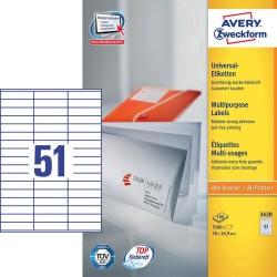 Etichette adesive in fogli a4 colore bianco