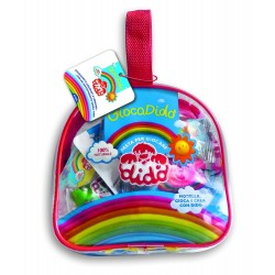Dido' borsetta in plastica con chiusura e cerniera - contenuto 5 salsicciotti, 1 formina doppia, 1 mattarello e 1 coltellino - 1 conf. colore assortiti