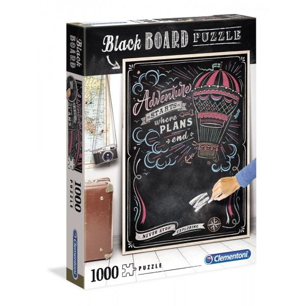 Blackboard puzzle, travel - puzzle 1000pz