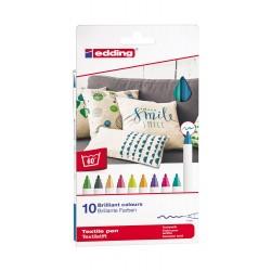 Marcatore per tessuti e-4600 colore assortiti tipo punta conica