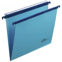 Cartelle sospese v, interasse 33 colore azzurro grammatura 270gr