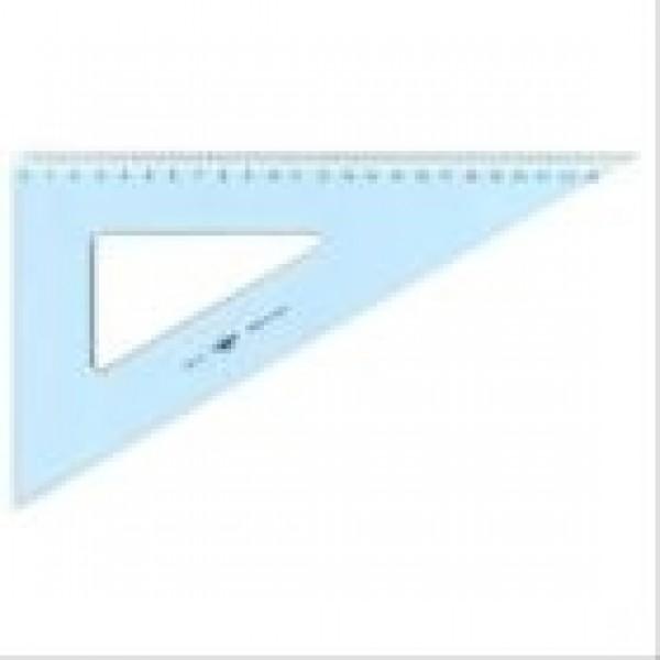 Squadra 60° tecnoschool 25cm colore azzurro trasparente