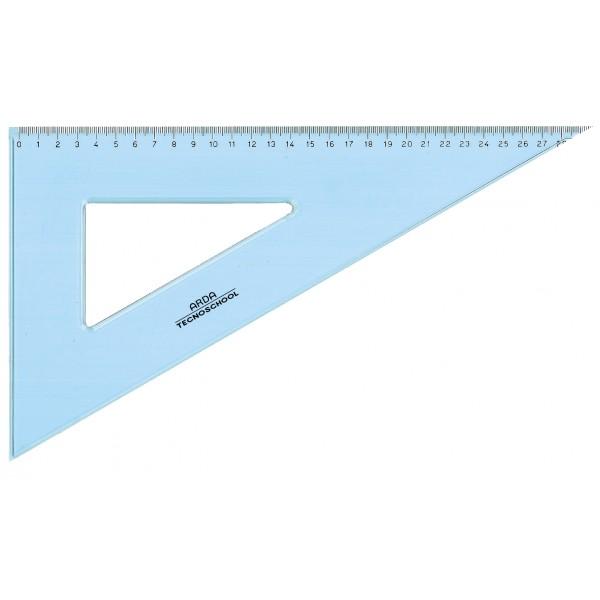 Squadra 60° tecnoschool 30cm colore azzurro trasparente