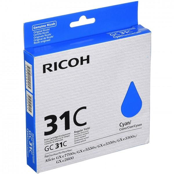 Cartuccia gel ciano type gc31c per aficio gx e3300n/3350n (1.920pg) 1pz  colore ciano