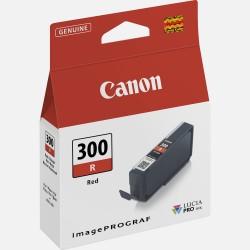Canon pfi300r cartuccia rosso colore rosso