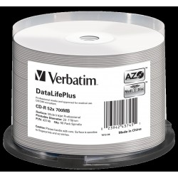 Verbatim cd-r datalifeplus in spindle 50pz