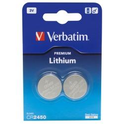Verbatim premium - cr2450 batteria al litio 3v