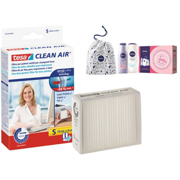 5pz di  filtro clean air  taglia s + kit nivea in regalo