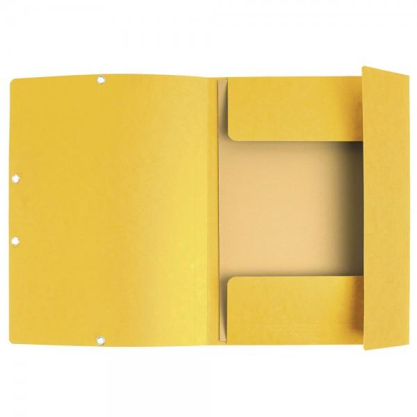 Cartelline 3 lembi elastico angolare - colore giallo -  prezzo singolo, ordine minimo 25pz colore giallo