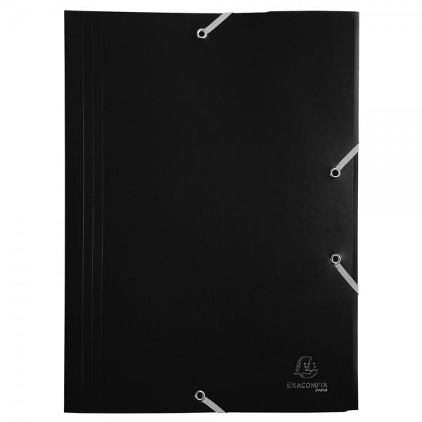 Cartellina con elastico colore nero