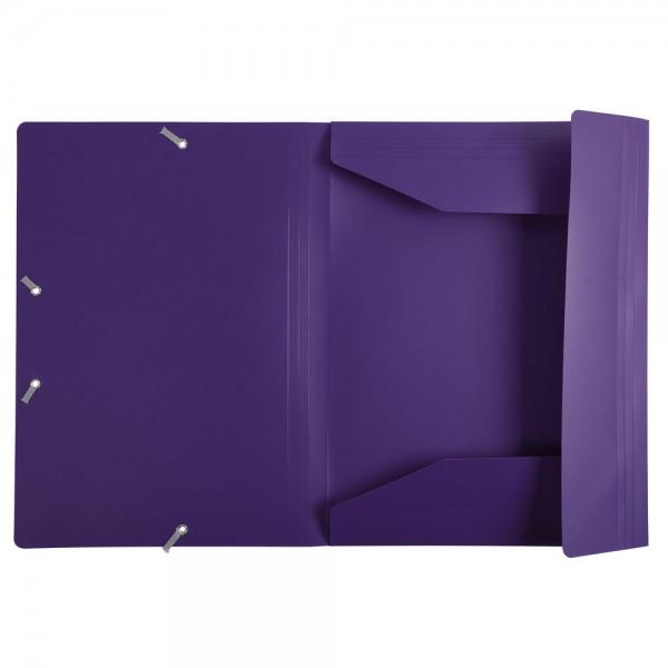 Cartellina con elastico colore viola