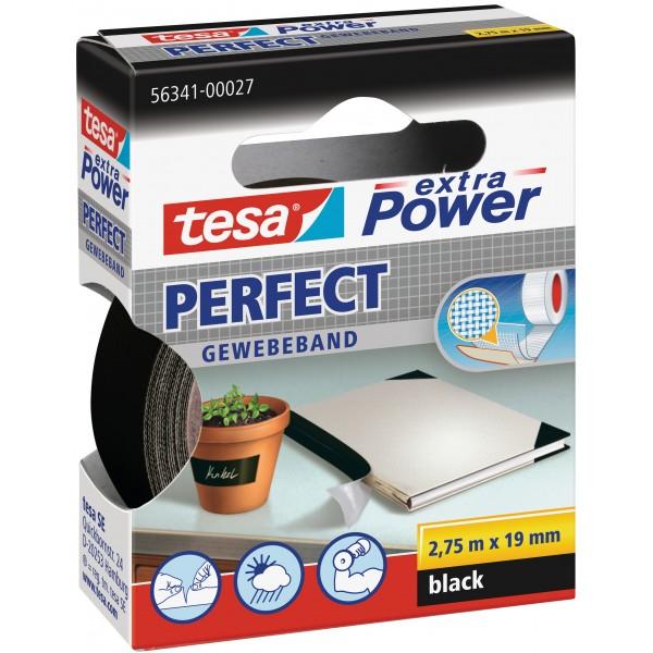 Nastro adesivo rinforzato extra power perfect 19mm x 2,75m colore nero