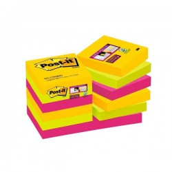 Blocco post-it 622-12ssrio super sticky  colore assortito