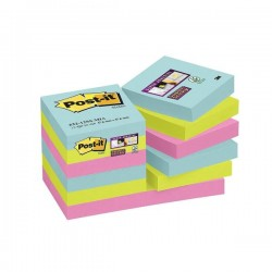 Blocco post-it 622-12ssmia super sticky  colore assortito