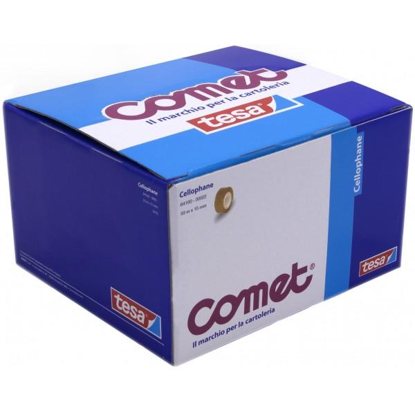 Comet - nastro adesivo cellophane - 30pz colore trasparente