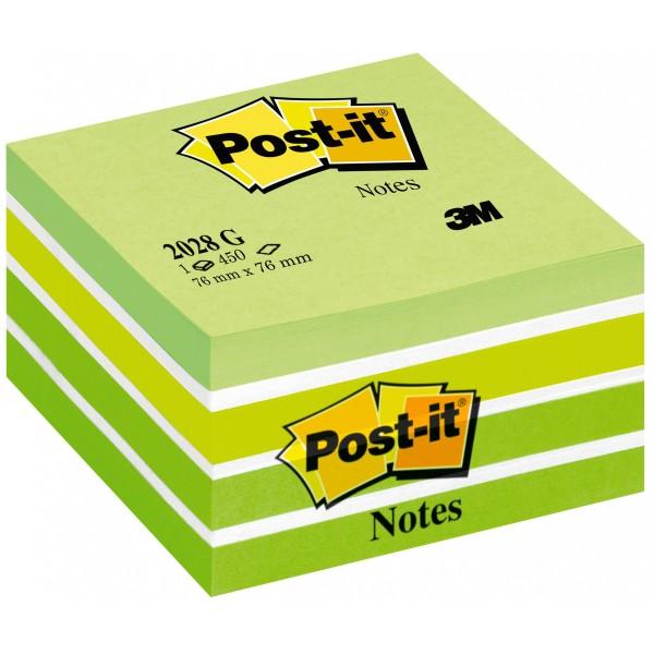 Blocco post-it 2028 g aquarelle  colore verde
