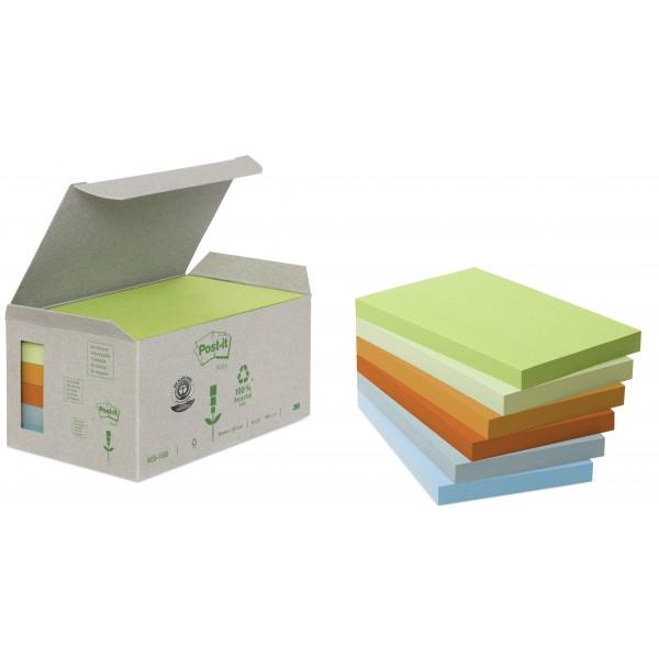 Blocco post-it 655 1gb riciclato colore assortiti