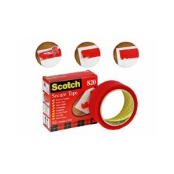 Nastro adesivo antieffrazione 820 35mm x 33m colore rosso
