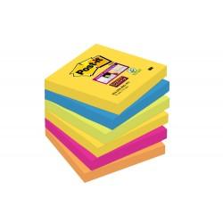 Blocco post-it 654 super sticky  colore assortiti