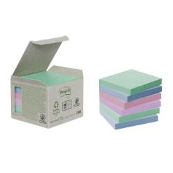 Blocco post-it 654-1gb riciclato colore assortiti pastello