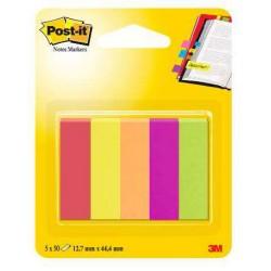 Segnapagina post-it 670 5 note marker  colore assortiti